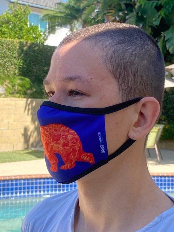 Cali bear face mask