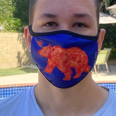 Cali bear face mask