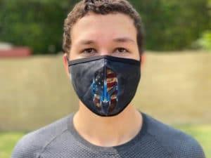 Spartan Grey face mask