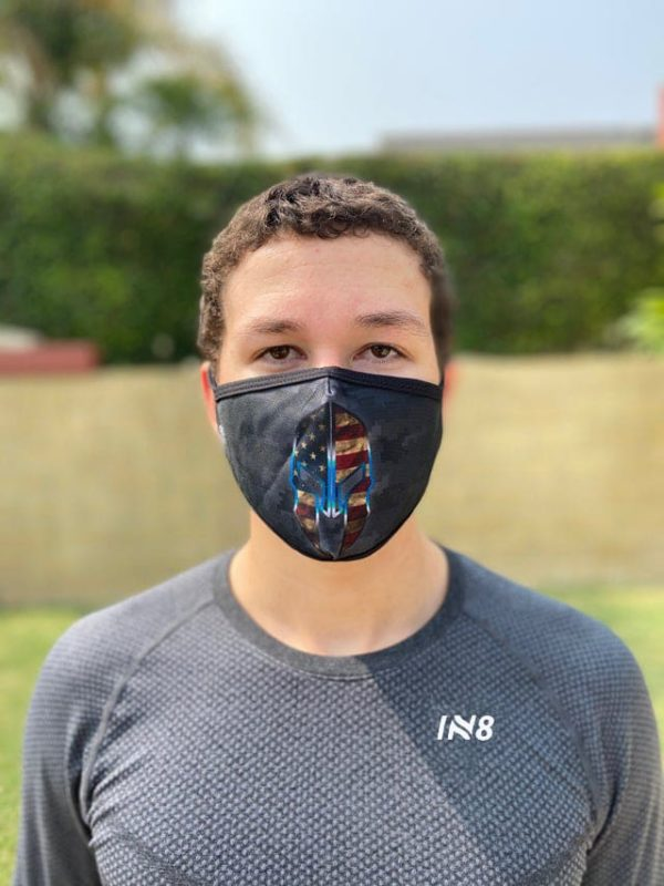 Spartan Grey face mask