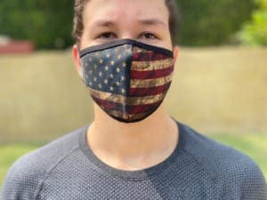 Retro USA flag face mask