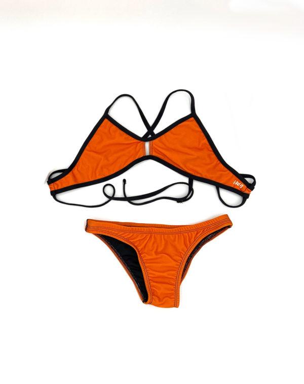 Orange vent bikini | Innate Active Ethical and Sustainable Bikini
