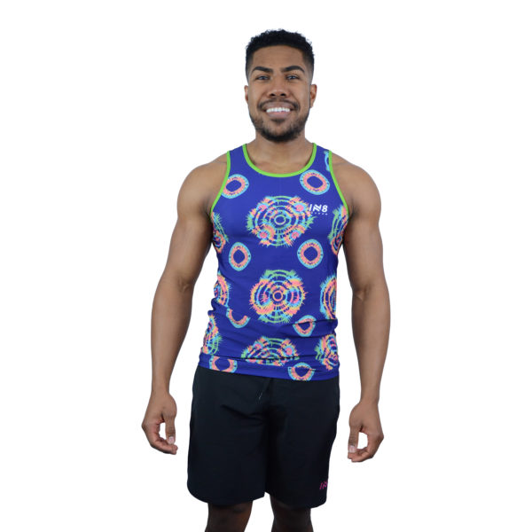 IN8 Blue Patterned Tank Top   IN8 Active