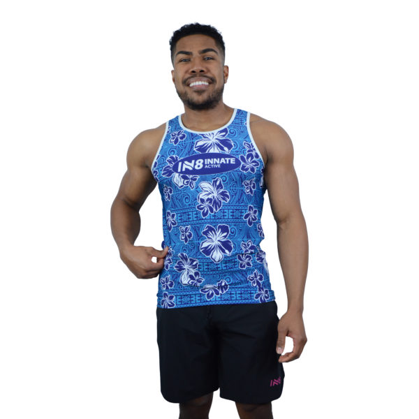 IN8 Blue Floral Tank Top   IN8 Active